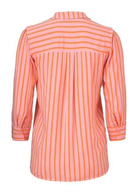 Otis Print Shirt - Flamingo Pink Stripe