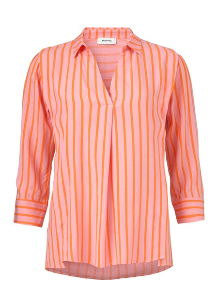 Otis Print Shirt - Flamingo Pink Stripe