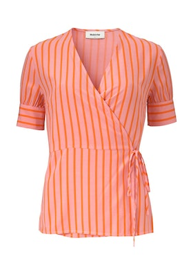 Otis Print Top - Flamingo Pink Stripe