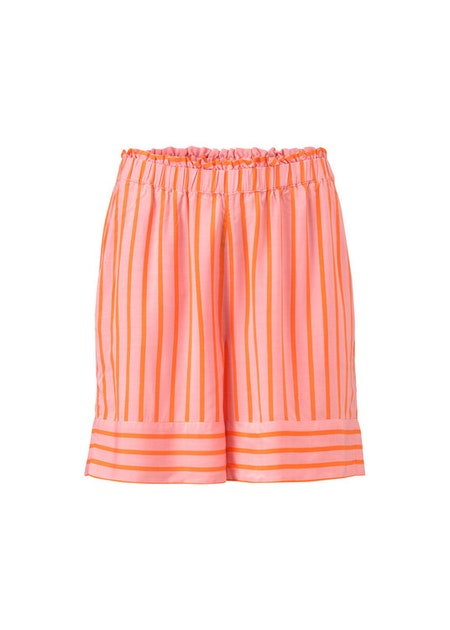 Otis Print Shorts - Flamingo Pink Stripe