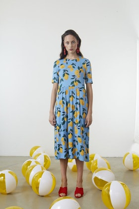 Owl Print Dress - Lemonade