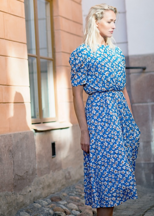 Alpha Long Dress - Blue