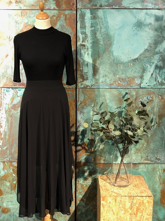 Layla Long Skirt - Black