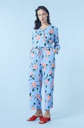 Orleans Print Jumpsuit - Summer Flower