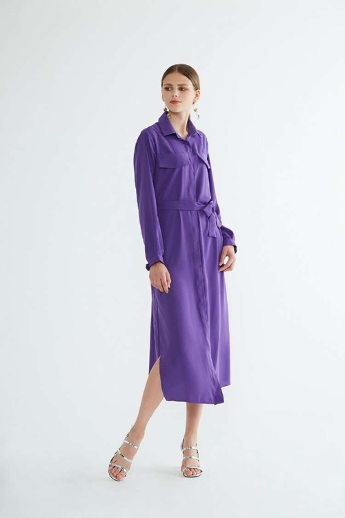 Helen Long Dress - Purple