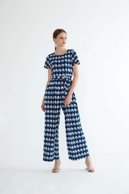 Ione Maxi Jumpsuit - Blue