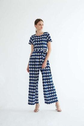 Ione Maxi Jumpsuit - Blue