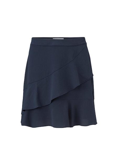 Origami Skirt - Navy Sky