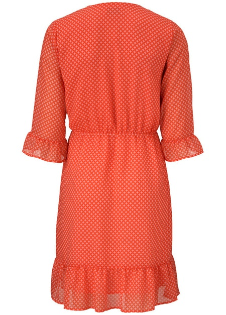 Olinda Print Dress - Circle Tiles