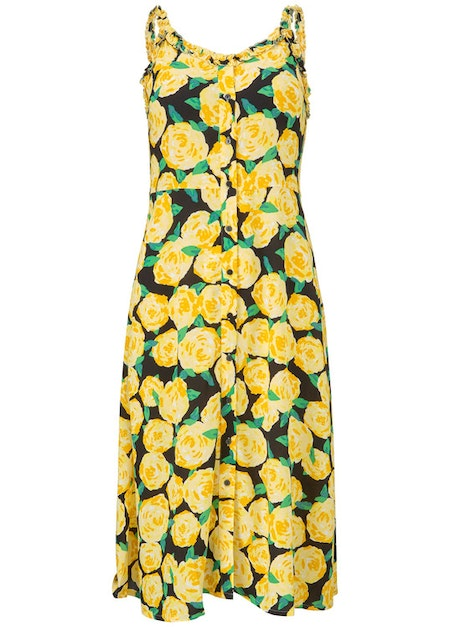 Oriental Print Dress - Flowerhead