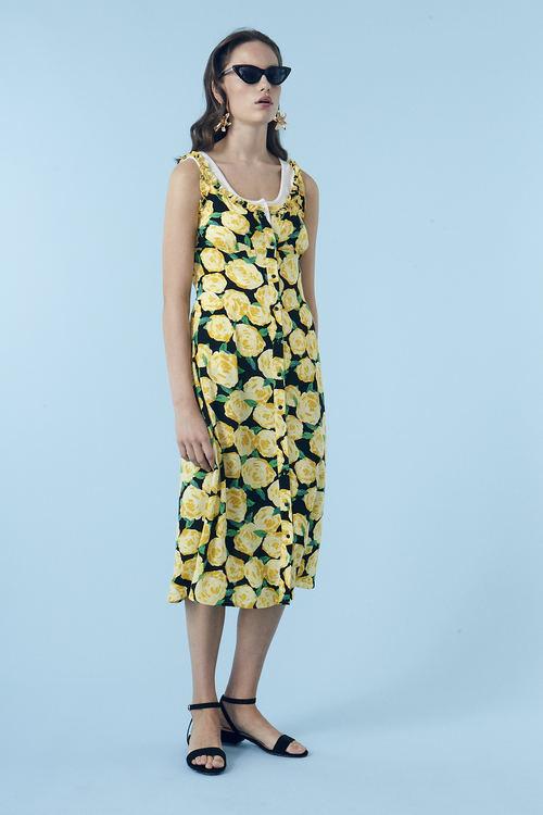 Oriental Print Dress - Flowerhead