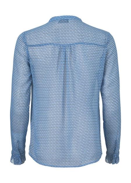 Rachel Print Shirt - Serenity Grid