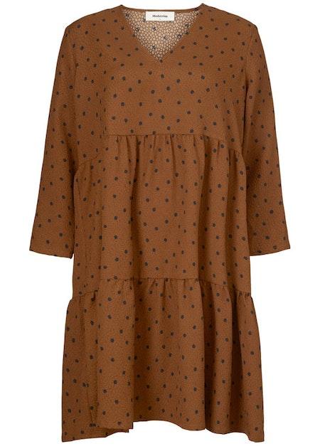 Richie print dress - Brown Dot