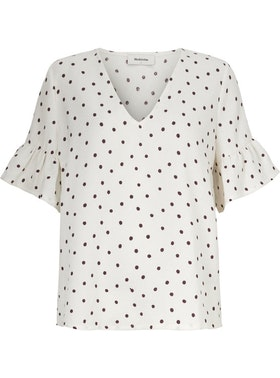 Richie print Top - Off White Dot