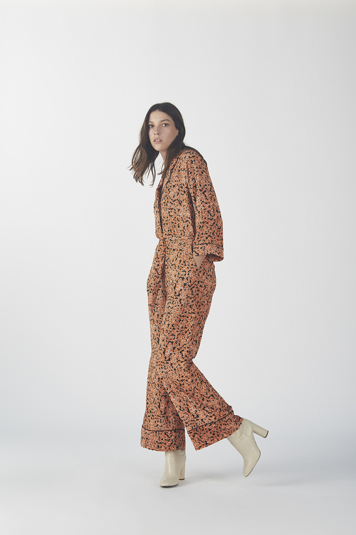 River Print Jumpsuit - Flower Fusion