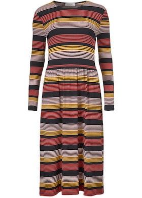 Ross Stripe Dress - Fire Stripe