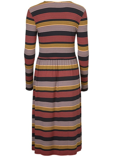 Ross Stripe Dress - Fire Stripe