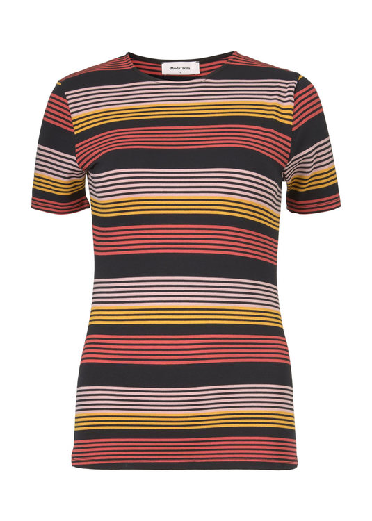 Ross Stripe T-shirt - Fire Stripe