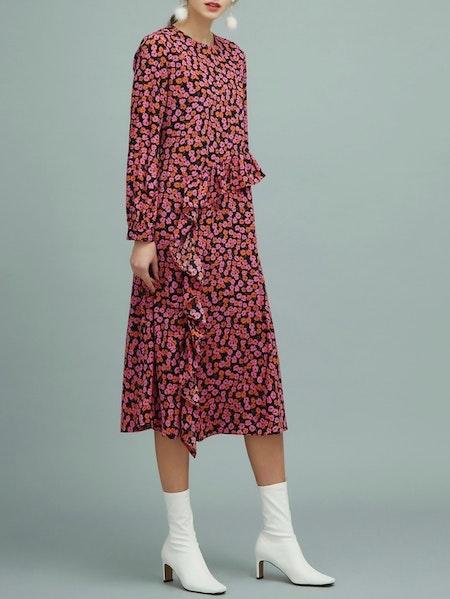 Garden Long Dress - Pink