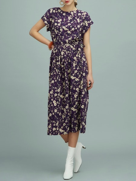 Mila Long Dress - Purple