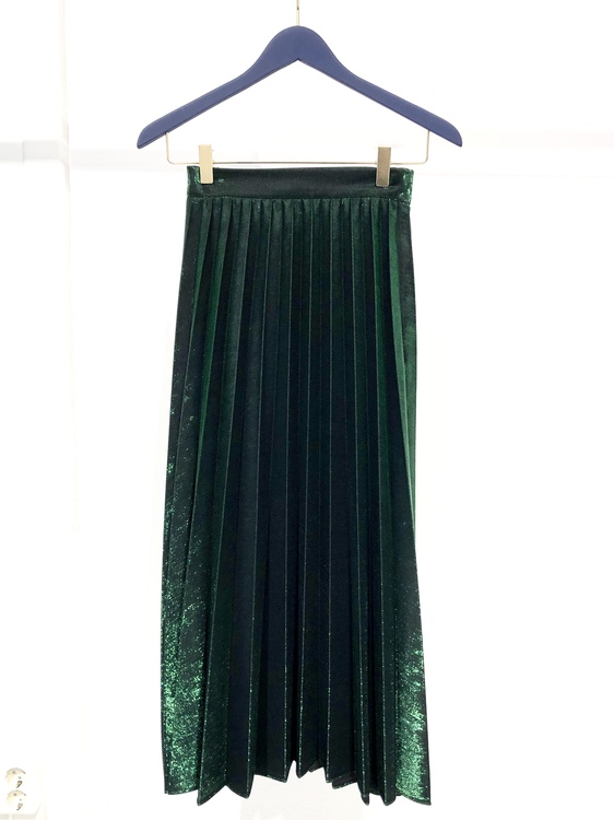 Mabel Pleated Skirt - Green