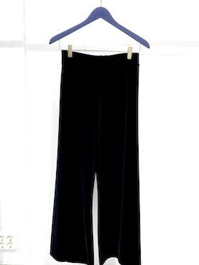 Posey Velvet Trousers - Black