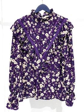 Mila Tassel Blouse - Purple