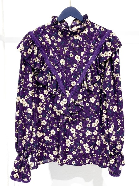 Mila Tassel Blouse - Purple