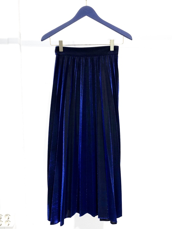 Mabel Pleated Skirt - Blue