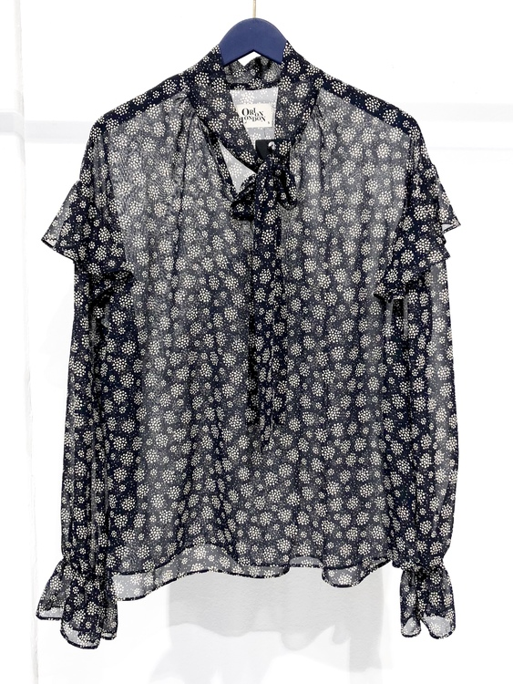 Gail Blouse - Navy