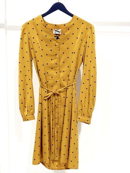Zoe Shirt Dress - Yellow