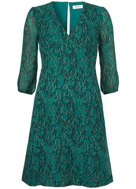 Sidsel Print Dress - Emerald Snake