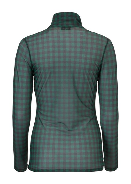 Siona Print Top - Dark Green Check
