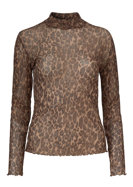 Justina Top - Lurex Leopard