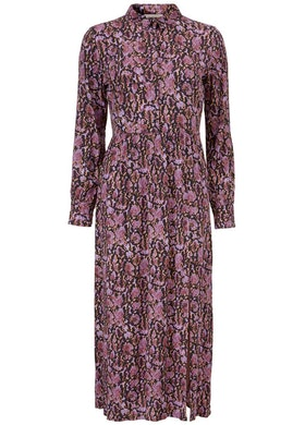 Solero Print Dress - Purple Snake