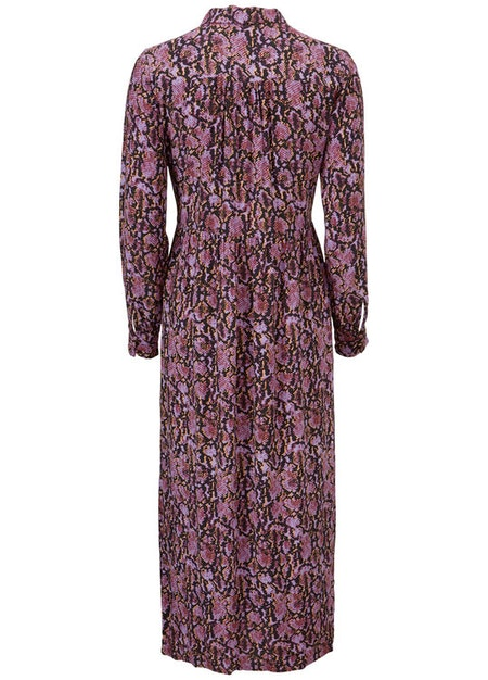 Solero Print Dress - Purple Snake