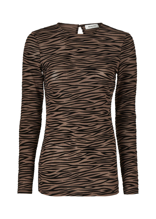 Vegas Top - Brown Zebra
