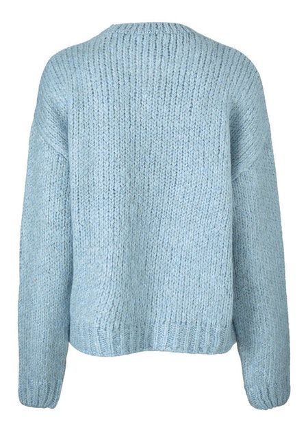 Valentia O-neck - Blue Wash