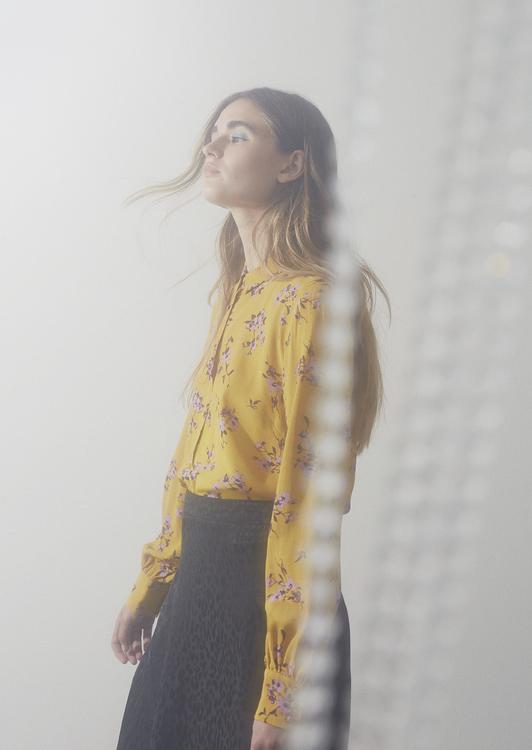 Vanilla Print Shirt - Wild Blossom