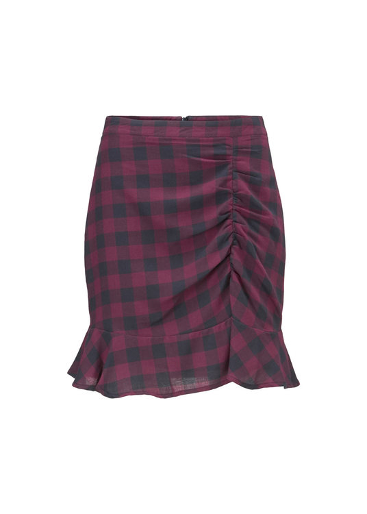 Sedina Skirt - Red Check