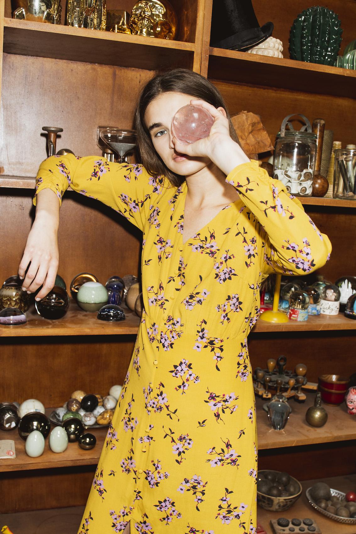 Vanilla Print Dress - Wild Blossom