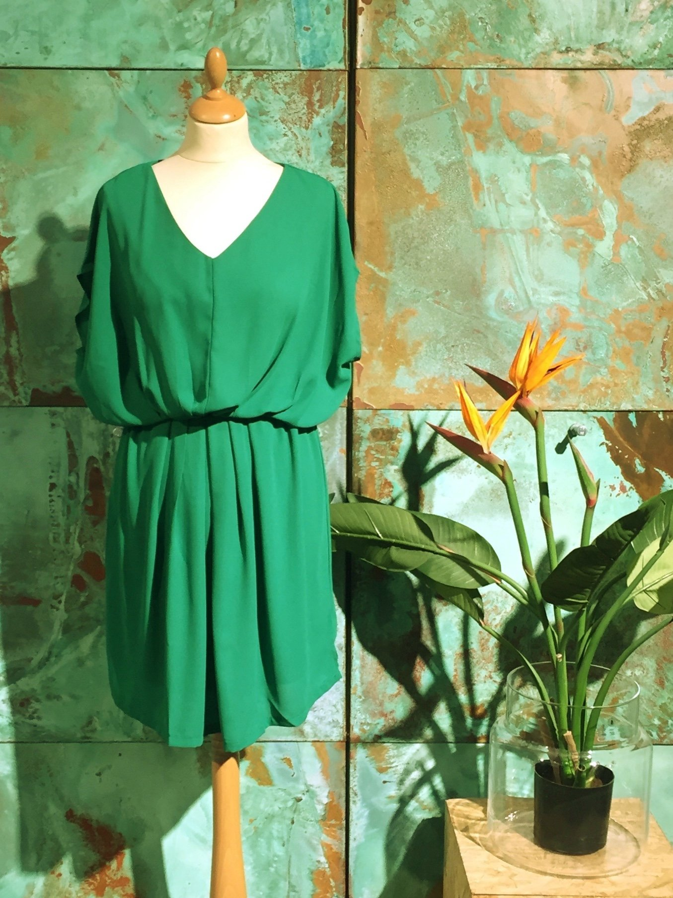 Samarina Mini Dress - Green