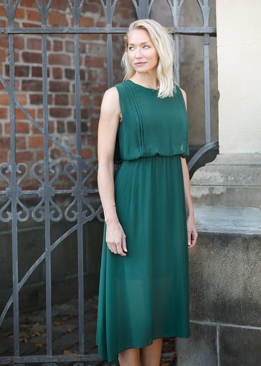 Kate Long Dress - Dark Green