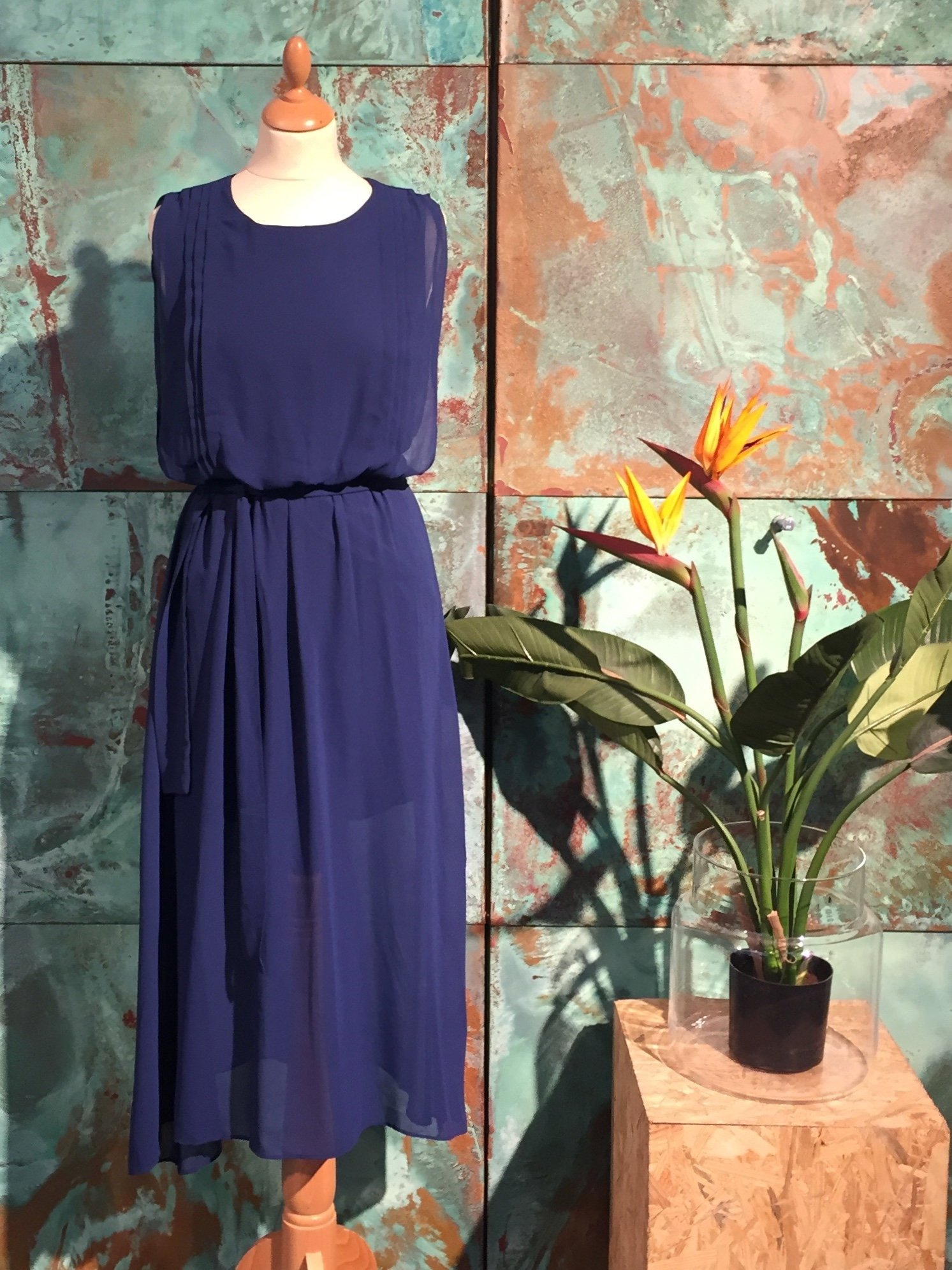 Kate Long Dress - Dark Blue