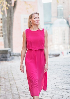 Kate Long Dress - Pink