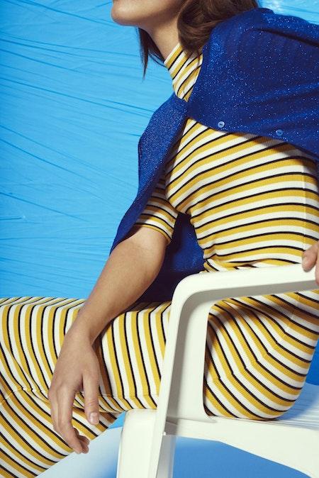 Krown Stripe T-Shirt Dress - Honey