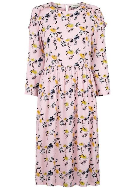 Fardosa Print Dress - Pale Floral