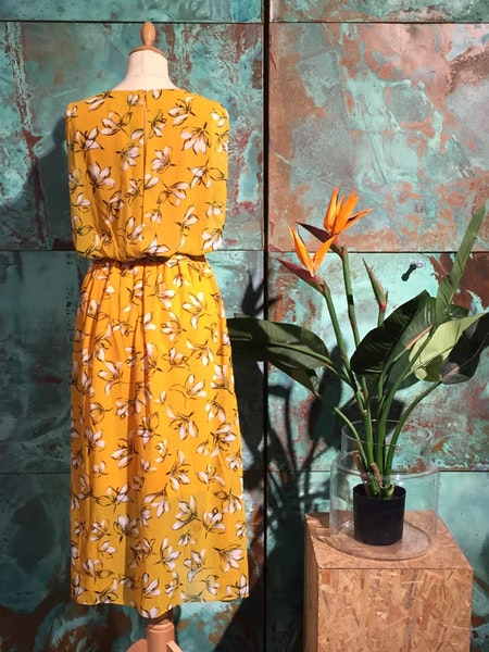 Cadee Long Dress - Yellow