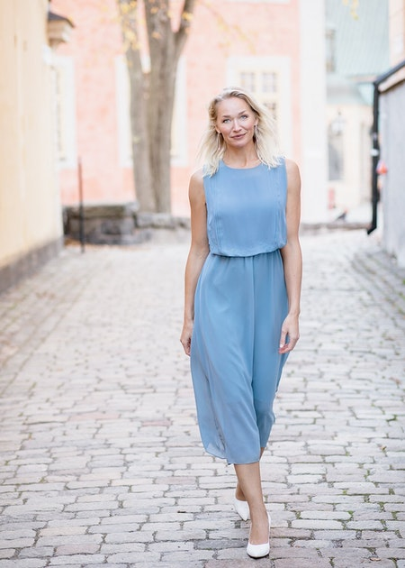 Kate Long Dress - Light Blue
