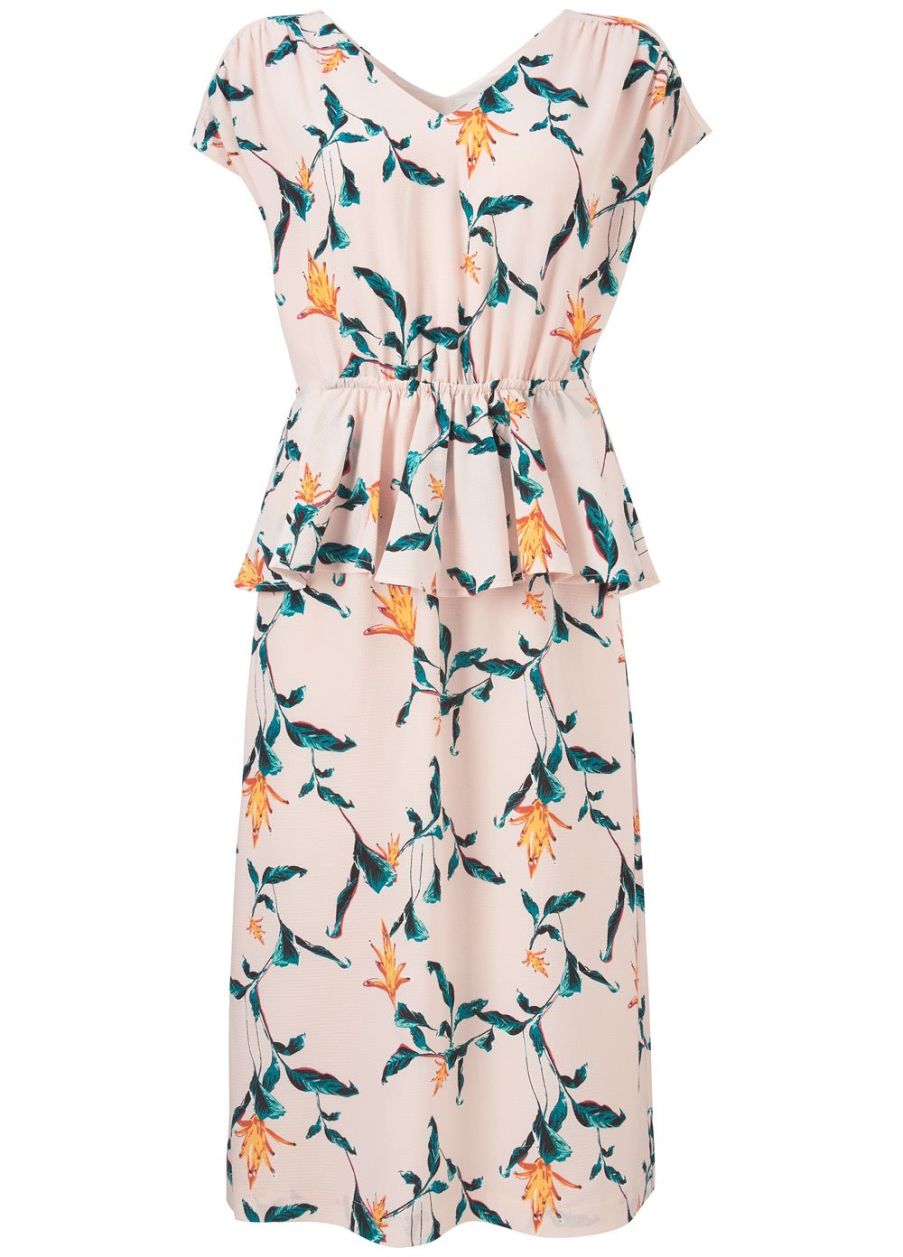 Genesis Print Long Dress - Rose Tropical